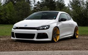 Picture Volkswagen, Scirocco R, Vossen, Wheels