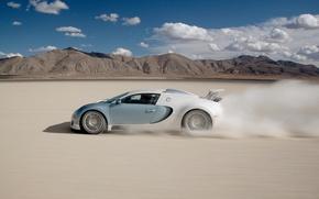 Wallpaper Veyron, desert, Bugatti