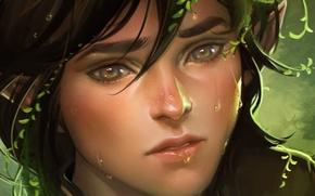 Picture girl, art, Elf