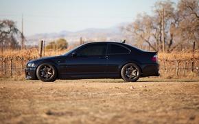 Picture black, black, bmw, BMW, profile, wheels, drives, black, e46