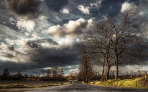 Wallpaper road, the sky, landscape