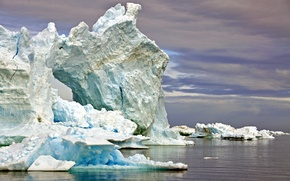 Picture cold, water, the ocean, ice, iceberg, frost, ice, floe, Greenland, Greenland