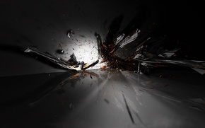 Wallpaper fragments, the explosion, black