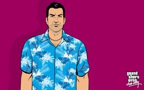 Picture GTA, Rockstar, Tommy Vercetti, Grand Theft Auto, Vice City