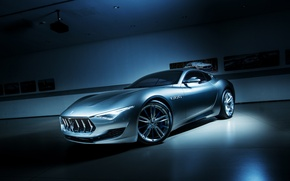 Wallpaper Alfieri, Silver, Masearti, Supercar, Power, Front, Concept