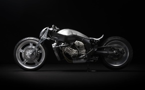 Picture the concept, motorcycle, The dark background, BMW k1600 custom