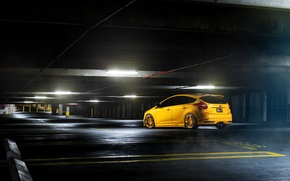 Picture Ford, focus, Parking, Focus, Ford, yellow
