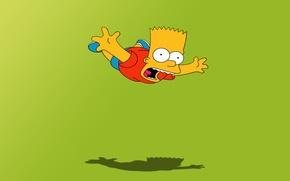 Wallpaper cartoon, the simpsons, flight, Bart, the simpsons, bart