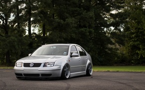 Picture volkswagen, wheels, tuning, front, gti, face, germany, low, r32, stance, jetta, bora, vr6
