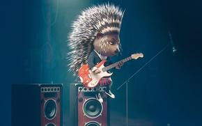 Picture Guitar, Movie, Sing, Zveroboy, a porcupine