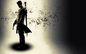 Picture weapons, Devil May Cry 5, the game, shadow, guy, Dante, DmC