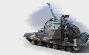 Picture figure, art, SAU, 2S19, Msta-S, the object 316, modern Russian 152-mm divisional self-propelled howitzer