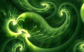 Wallpaper divorce, curls, green