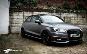 Picture Audi, black, grey, full, Satin, wrap