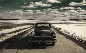 Picture machine, retro, background, Wallpaper, USSR, car, classic, Volga, GAZ 21