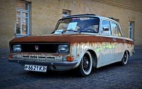 Picture machine, rust, classic, Muscovite, AZLK, understatement, 2140, Rat Look, ragtop
