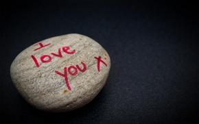 Picture stone, i love you, recognition, background, the inscription