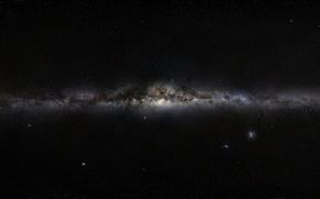 Wallpaper space, stars, nebula, black