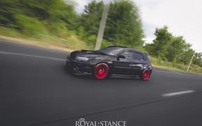Picture turbo, red, subaru, black, japan, wrx, impreza, jdm, tuning, sti, low, stance