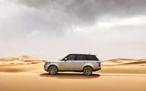 Wallpaper sand, car, machine, desert, Range Rover, range Rover, Land Rower