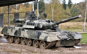 Picture beauty, power, tank, Russia, military equipment, T-80 UD