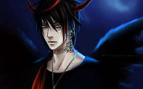 Picture anime, the demon, tattoo, art