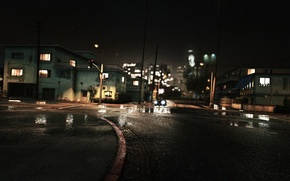 Picture car, Machine, Night, GTA V, grand theft auto v, The Saints, San Andres, Another Rainy