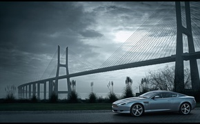 Wallpaper the reeds, aston martin, db9, bridge