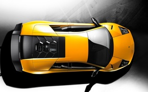 Picture yellow, Lamborghini, top, 157