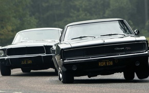 Picture mustang, ford, black, dodge, muscle, power, charger, r/t, classic, america, racing