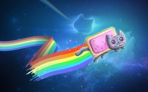 Picture nyan-cat, nyan, psychedelia