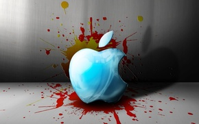 Picture Apple, SPOT, DROPS, SQUIRT, BRAND, PAINT, APPLE