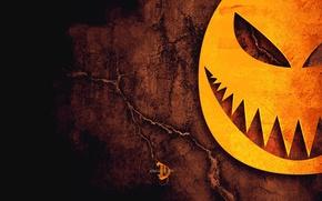 Wallpaper Halloween, horror, cracked