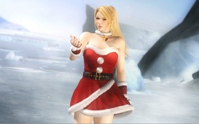 Picture ice, blonde, neckline, bell, cosplay, Dead or Alive, bombski, DoA girls, Merry X`mas