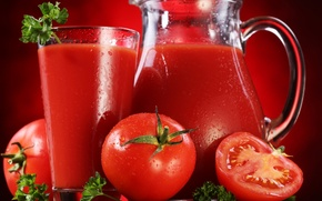 Wallpaper red, juice, tomatoes