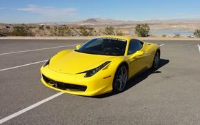 Picture ferrari, 458, italia, yellow