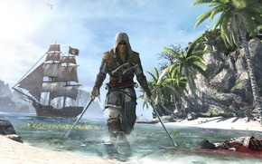 Picture pirate, assassin, Edward Kenway, Assassin's Creed IV: Black Flag, Edward Kenway