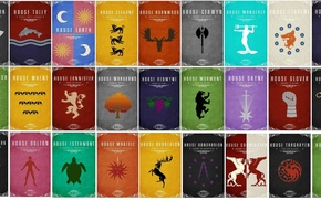 Picture A Song of Ice and Fire, Game of Thrones, Stark, Targaryen, Lannister, Tyrell, Greyjoy, Baratheon, ...