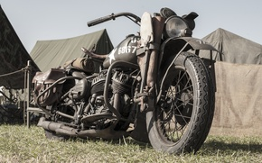 Picture war, motorcycle, military, Harley-Davidson, world, Second, times, WLA