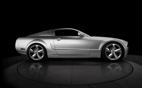 Wallpaper mustang, silver, ford, 2009, 45th, bok, iacocca, anniversary
