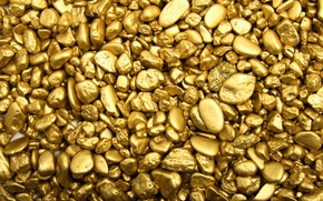 Picture pebbles, stones, gold, gold, bars, gold