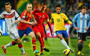 Picture collage, football, fifa world cup, brazil, world Cup, 2014