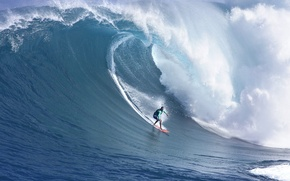 Picture sea, wave, surfing