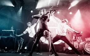 Picture violin, concert, spotlights, violin, Lindsey Stirling, Lindsey Stirling
