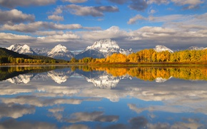 Picture forest, mountains, lake, river, USA, Ozen