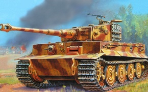 Picture tiger, figure, the second world, the Germans, the Wehrmacht, heavy tank, PzKpfw VI, 505 heavy …