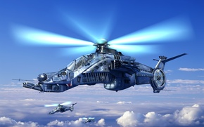 Wallpaper helicopter, turntables, combat vehicle, sirin