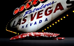 Picture lights, Las Vegas, Nevada, fishes, poker