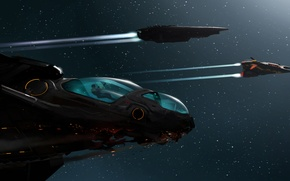 Picture space, stars, flight, people, ships, art, elite, dangerous, Ryvax