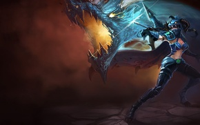 Picture lol, Vayne, League Of Legend, Dragon Killer
